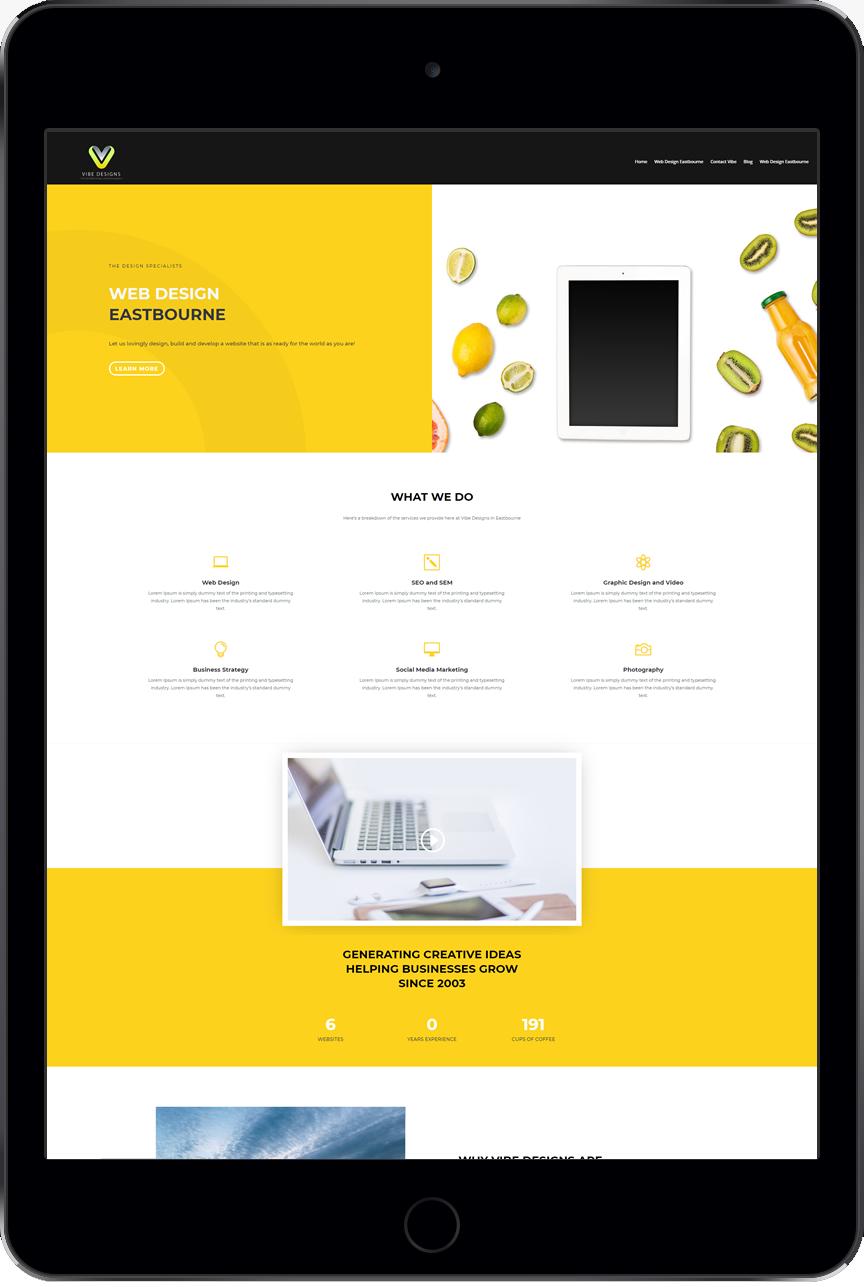 Web Design Eastbourne Tablet